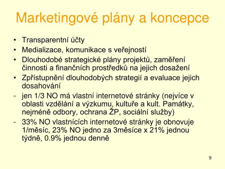 Marketingové plány a koncepce