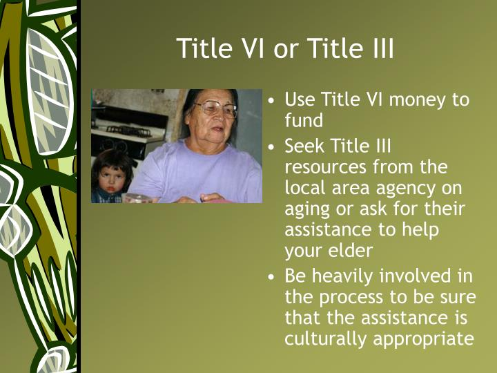 Title VI or Title III