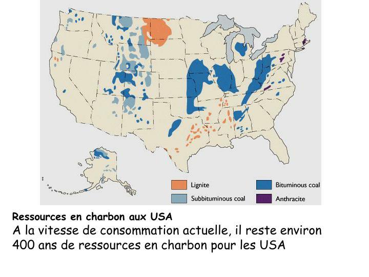 Ressources en charbon aux USA