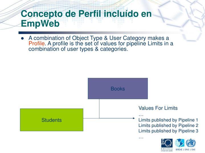 Concepto de Perfil incluído en EmpWeb