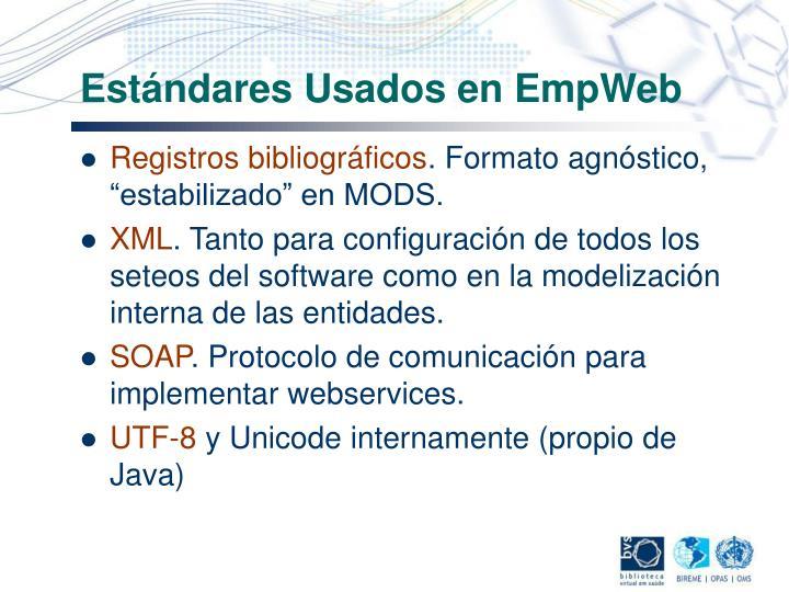 Estándares Usados en EmpWeb