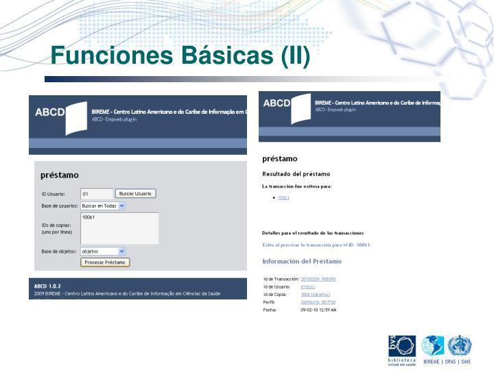 Funciones Básicas (II)