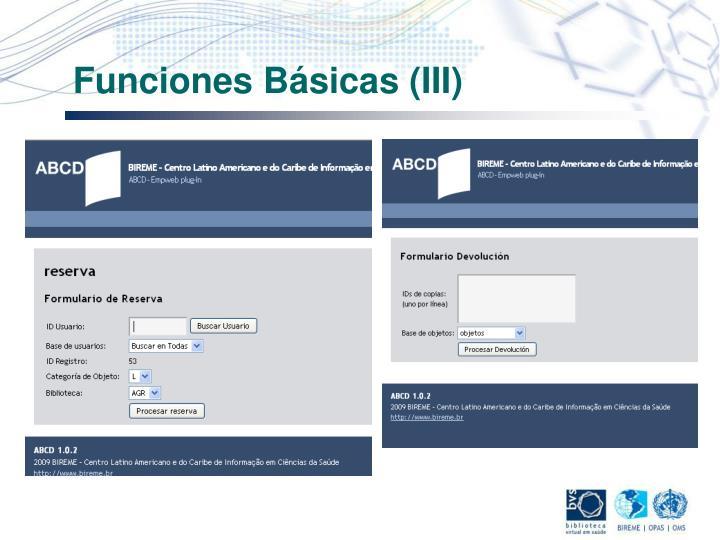 Funciones Básicas (III)
