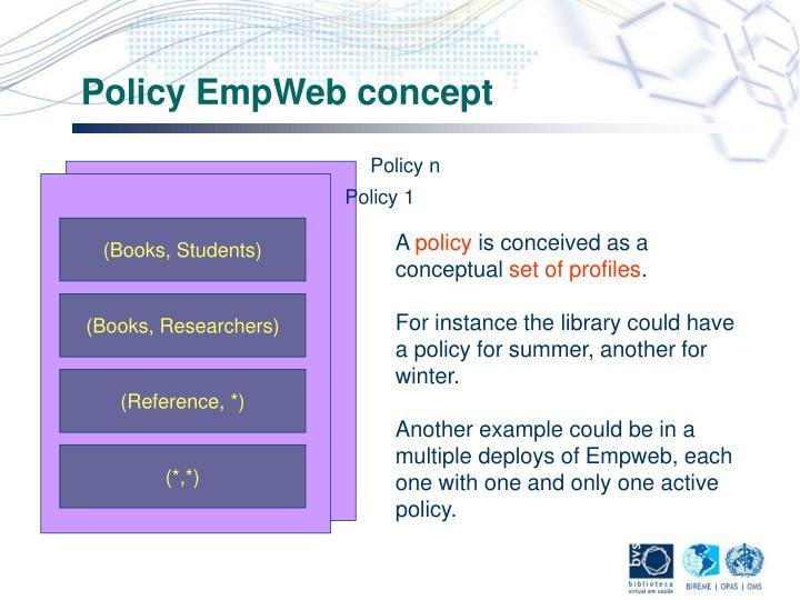 Policy EmpWeb concept