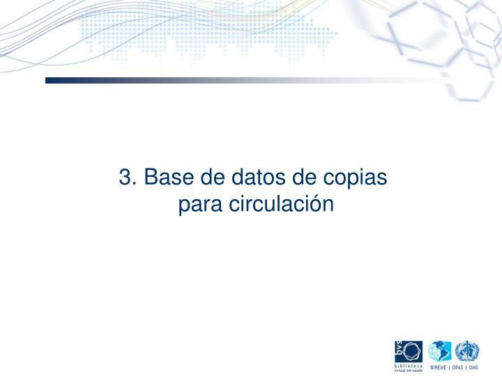 3. Base de datos de copias