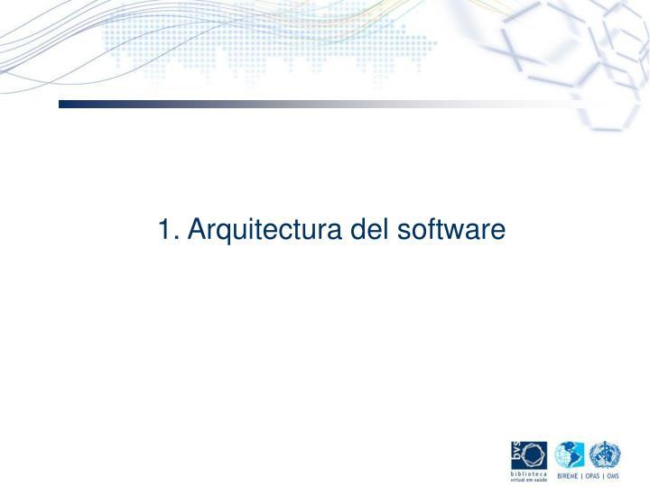 1. Arquitectura del software