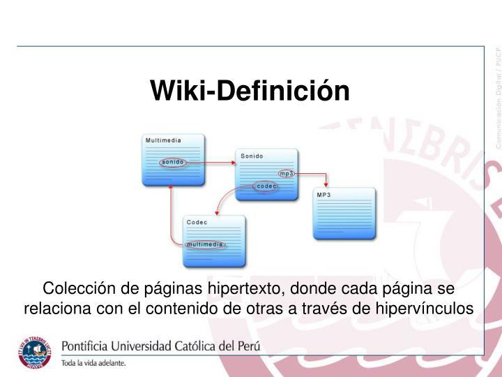 Wiki-Definición