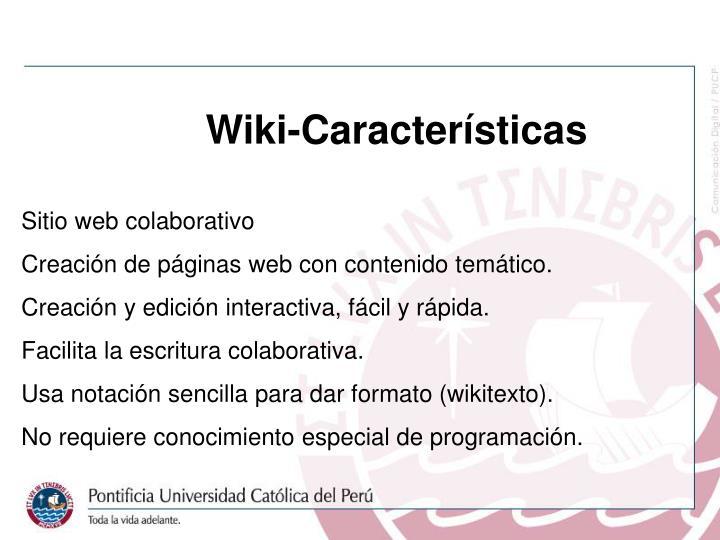 Wiki-Características