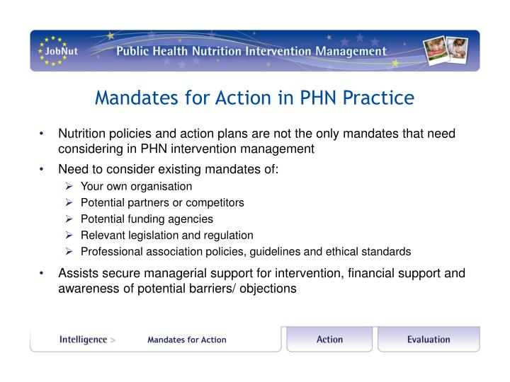 Mandates for Action in PHN Practice