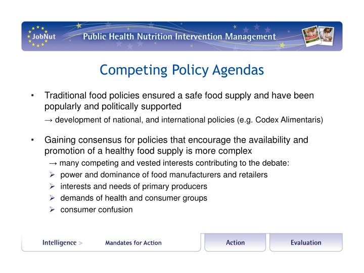 Competing Policy Agendas