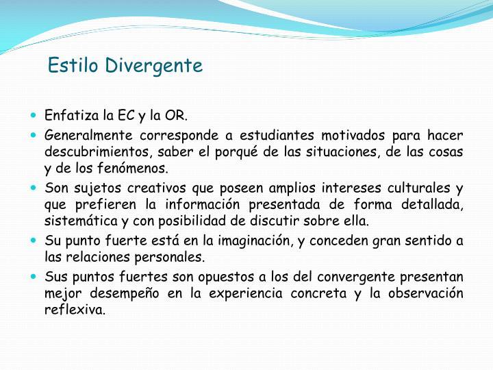 Estilo Divergente