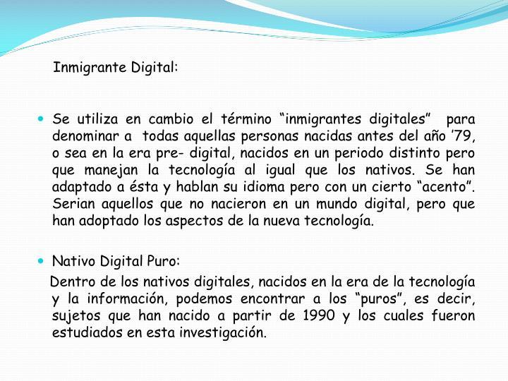 Inmigrante Digital: