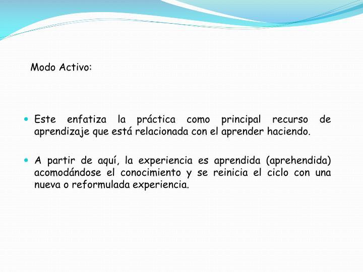 Modo Activo: