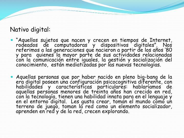 Nativo digital: