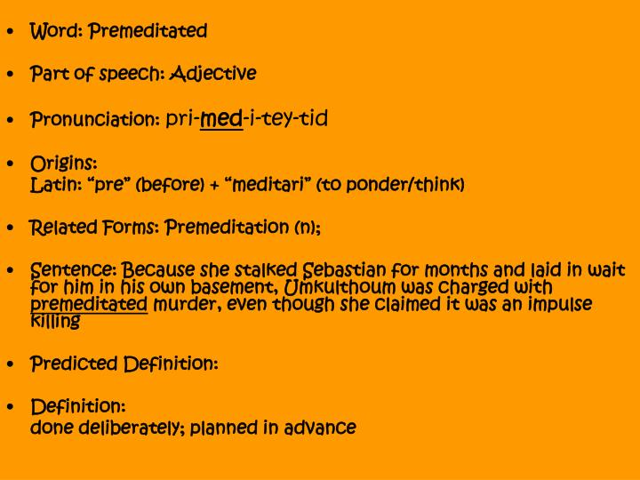 Ppt word benevolent part of speech adjective for Portent sentence
