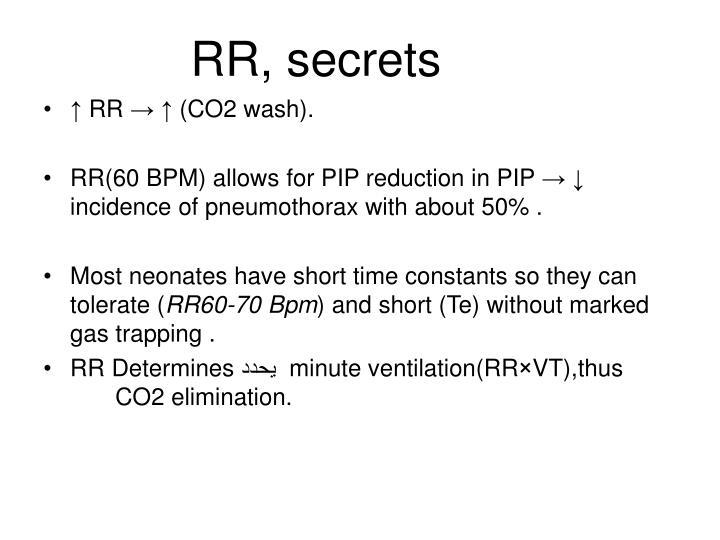 RR, secrets