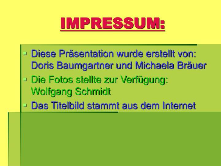 IMPRESSUM: