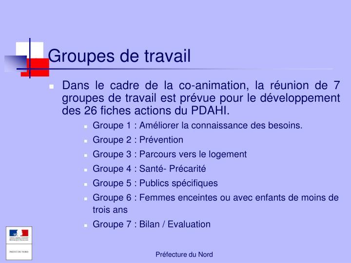 Groupes de travail