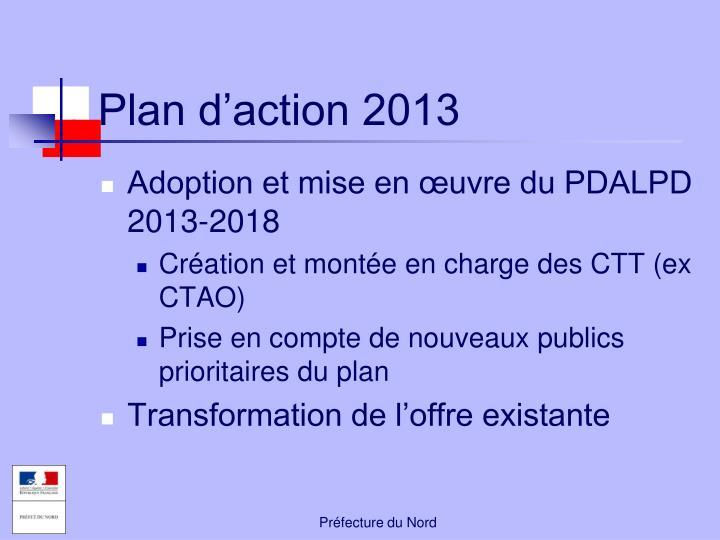 Plan d'action 2013