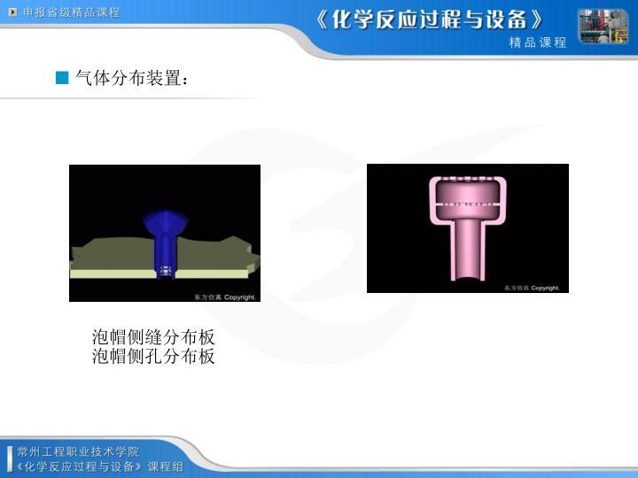 气体分布装置: