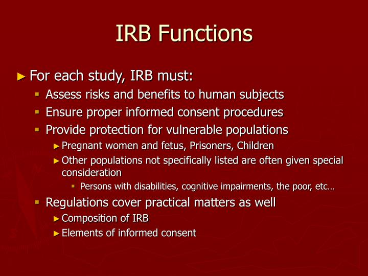 IRB Functions