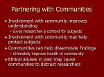partnering with communities