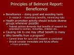 principles of belmont report beneficence