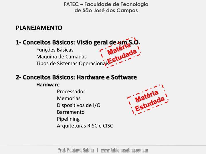 FATEC – Faculdade de Tecnologia de São José dos Campos
