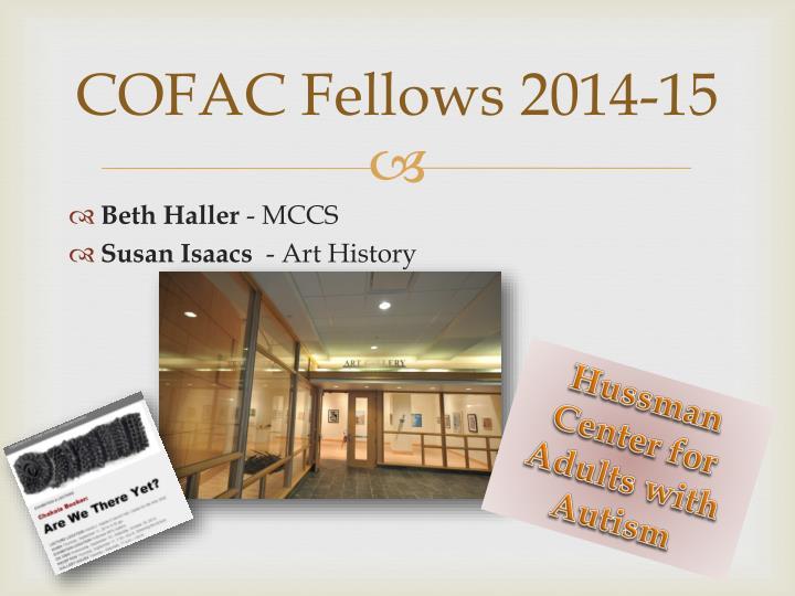 COFAC Fellows 2014-15