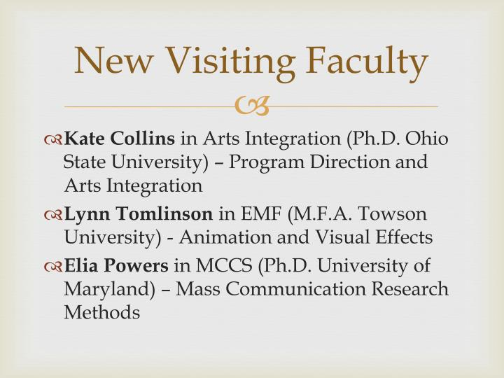 New Visiting Faculty