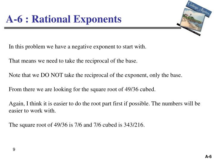 A-6 : Rational Exponents