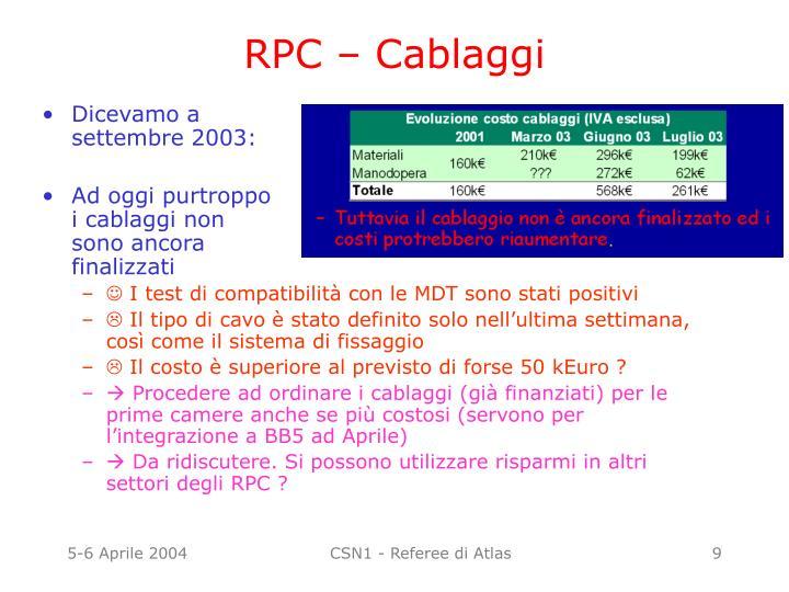 RPC – Cablaggi