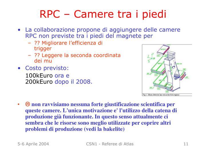 RPC – Camere tra i piedi