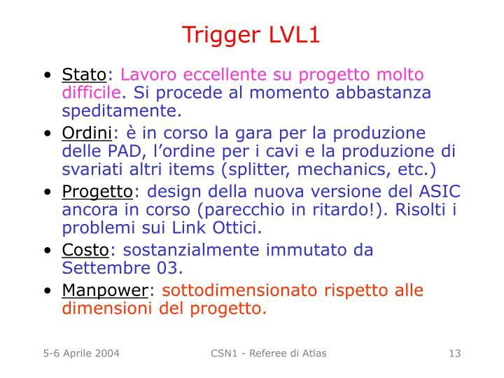 Trigger LVL1