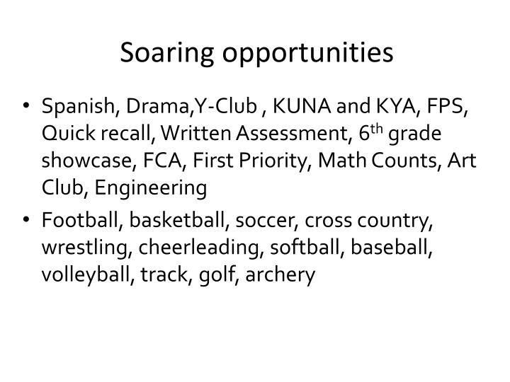 Soaring opportunities
