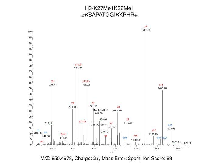 H3-K27Me1K36Me1