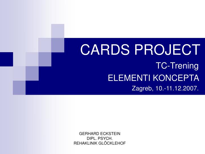 CARDS PROJECT