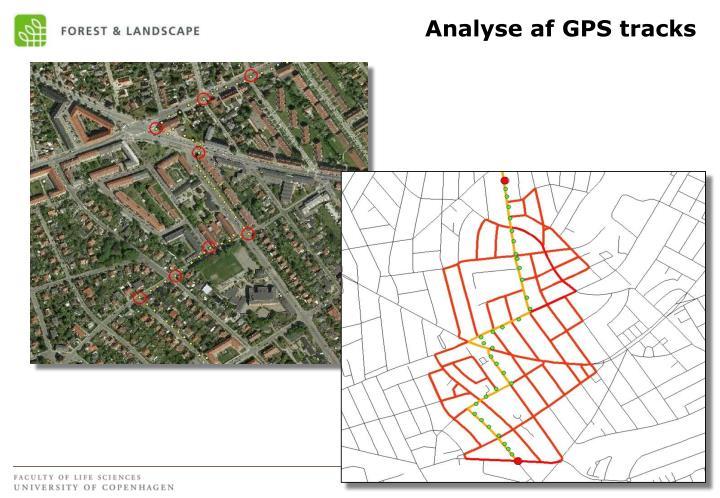Analyse af GPS tracks
