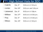 high school visits for sdc