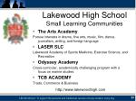 lakewood high school small learning communities