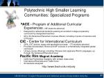 polytechnic high smaller learning communities specialized programs