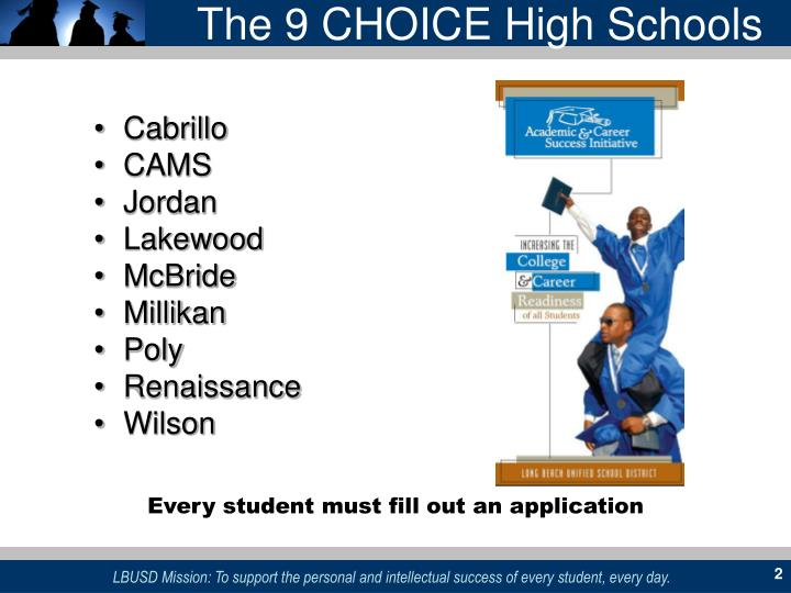 The 9 CHOICE High Schools