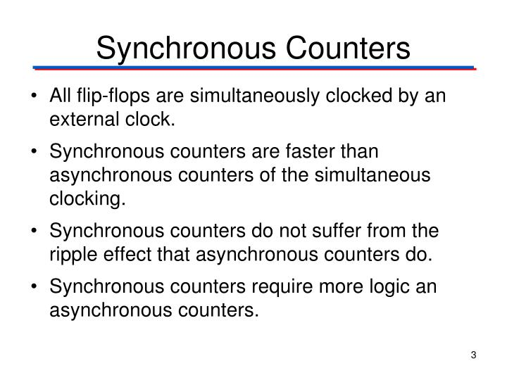Synchronous Counters