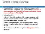 definisi technopreneurship
