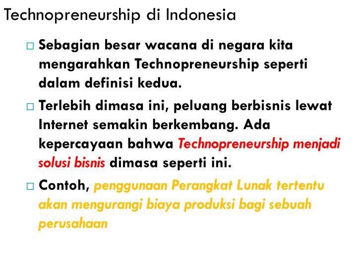 Technopreneurship di