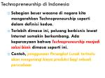 technopreneurship di indonesia