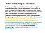 technopreneurship di indonesia1