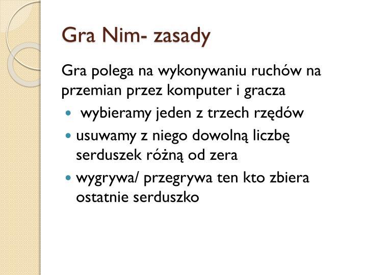Gra Nim- zasady