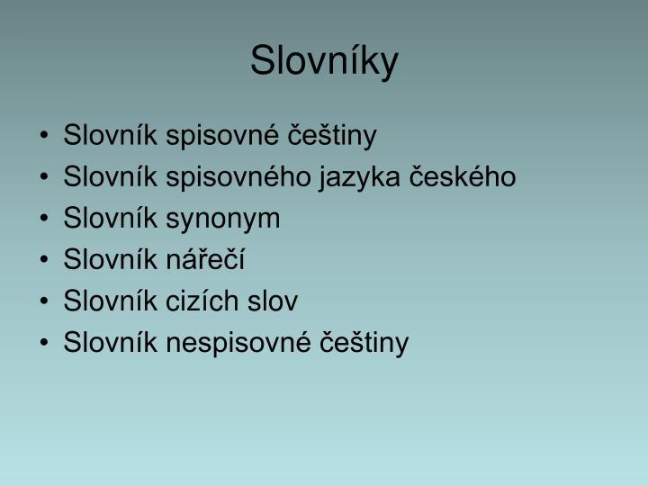 Slovníky