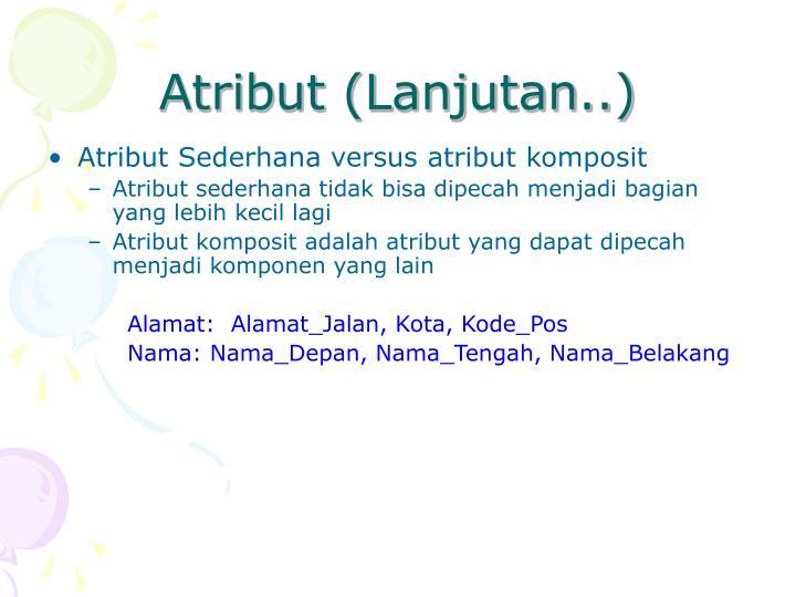 Atribut (Lanjutan..)